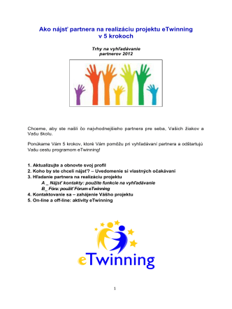 How to find an eTwinning Project Partner in 5 Steps_April2012