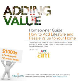 Homeowner Guide: How to Add Lifestyle and Resale - Cleanol