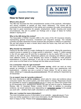 How to have your say - Better Regulation Ltd