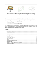 How to make a transcription from a digital recording