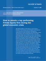 How to remain a top performing Private Equity firm - Oliver Wyman