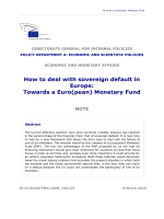 How to deal with sovereign default in Europe: Towards a Euro(pean