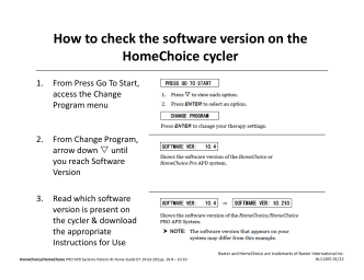 How to Check Software Version - Baxter