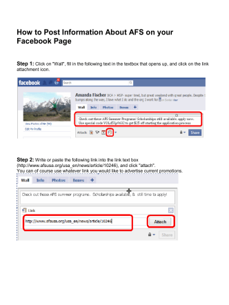 How to Post Information About AFS on your Facebook Page - AFS Wiki