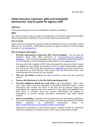 Chief executive expenses, gifts and hospitality disclosures: how-to