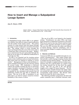How to Insert and Manage a Subpalpebral - LJB Development