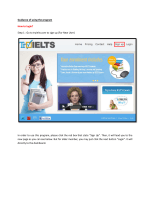 Guidance of using the program How to login? Step 1 - TryIelts.com
