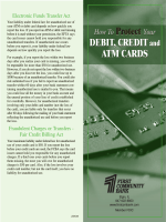 How To Protect Your DEBIT, CREDIT and ATM CARDS How To
