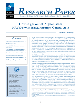 How to Get Out of Afghanistan: NATOs Withdrawal Through Central