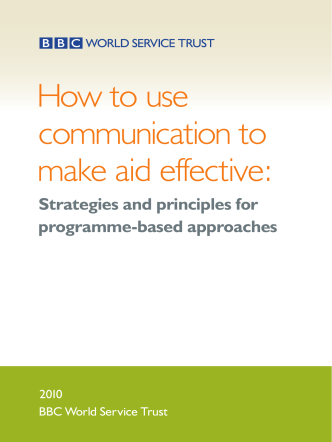 How to use communication to make aid effective: - BBC