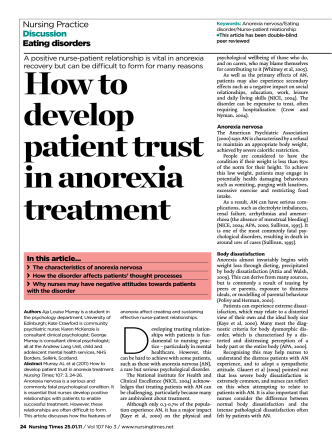 How to develop patient trust in anorexia treatment - Nursing Times