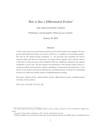 How to Buy a Differentiated Product∗ - IDEI