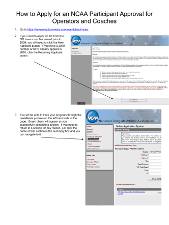 How to Apply for an NCAA Participant Approval for Operators and