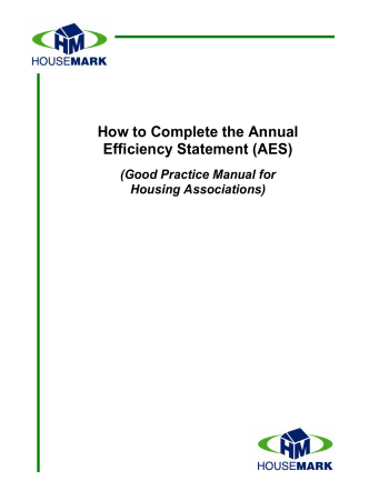 How to Complete the Annual Efficiency Statement (AES) - HouseMark
