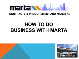 How to do business with marta