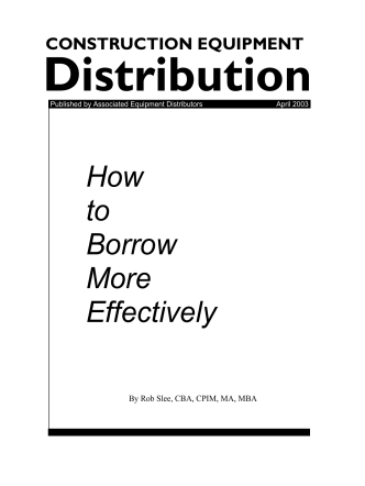 How to Borrow More Effectively - Robertson  Foley