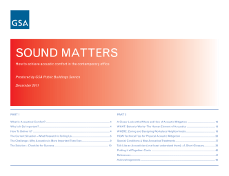 Sound Matters - How to Achieve Acoustic Comfort in the