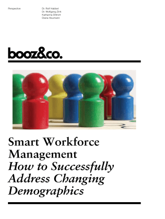 Smart Workforce Management How to - Booz  Company