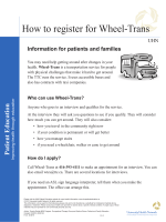 How to register for Wheel-Trans - the University Health Network