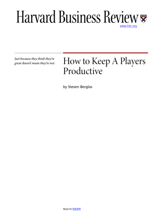 How to Keep A Players Productive - The Execution Maximizer