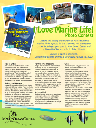 How to Enter: - Maui Ocean Center
