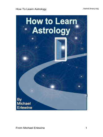 How To Learn Astrology From Michael Erlewine 1 - Astrolibrary.org