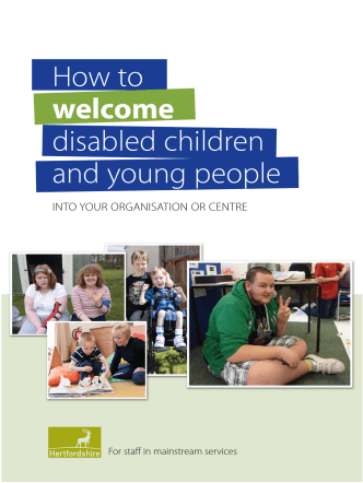 How to welcome disabled children and young people - Hertfordshire