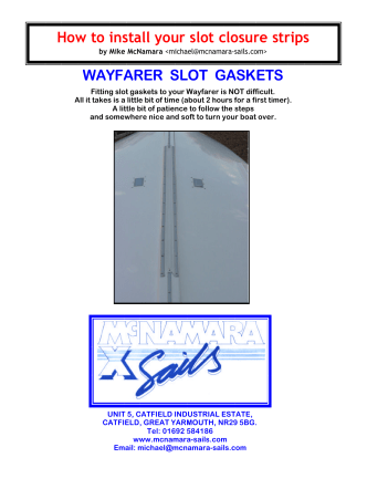 How to install your slot closure strips WAYFARER SLOT GASKETS
