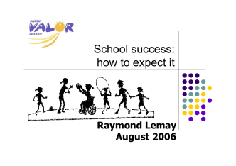 School success: how to expect it, August 2006 - Department of