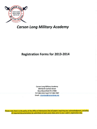 "HOW TO LEM!"" - Carson Long Military Institute"