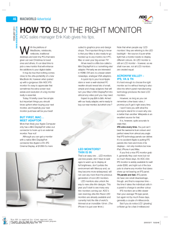 HOW TO BUY THE RIGHT MONITOR - AOC