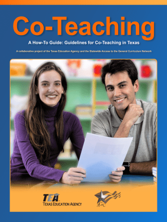 A How-To Guide: Guidelines for Co-T eaching in Texas - Region 17