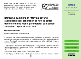 "Interactive comment on ""Moving beyond traditional model - hessd"
