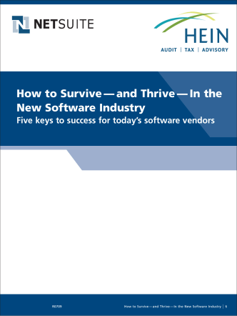 How to Survive — and Thrive — In the New Software Industry - Hein
