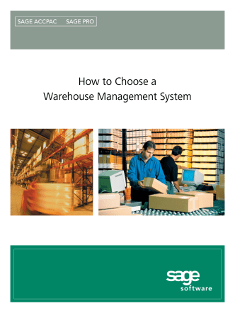 How to Choose a Warehouse Management System - Packer Thomas