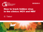 How to track hidden virus in the clinics: HCV and - Inflammation2014