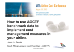 How to use AOCTF benchmark data to implement cost - IATA
