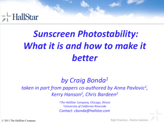 Sunscreen Photostability: What it is and how to make it better