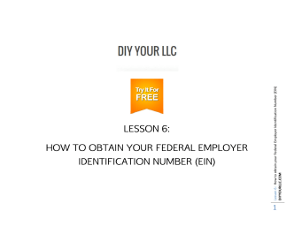 HOW TO ID O OBTA DENTIF LES AIN YO FICATIO - DIY YOUR LLC