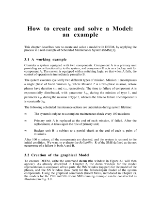 How to create and solve a Model: an example - CNR
