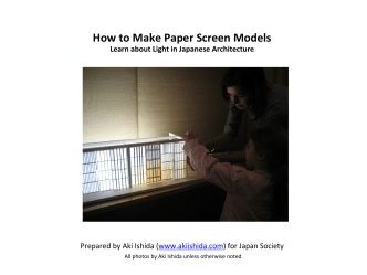 How to Make Paper Screen Models - Japan Society
