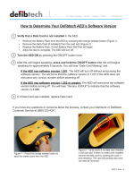 How to Determine Your Defibtech AEDs Software Version - Cintas