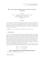 How to Formally Model Features of Network Security - SERSC