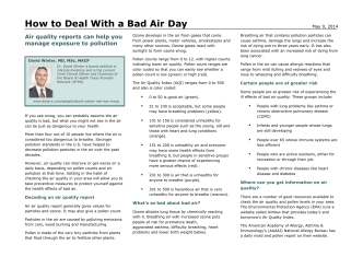 How to Deal With a Bad Air Day - Signature Medicine