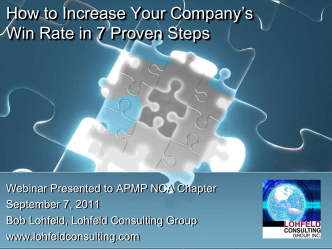 How to Increase Your Companys Win Rate in 7 Proven Steps