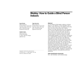 Blobby: How to Guide a Blind Person Indoors