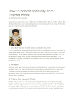 How to Benefit Spiritually from Pascha Week