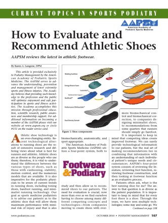 How to Evaluate and Recommend Athletic Shoes - American