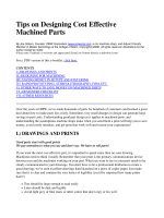 Designing machined parts, How to design machined parts, CAD