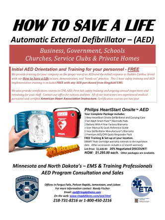 Philips On-Site AED flyer - PDF - Ringdahl EMS